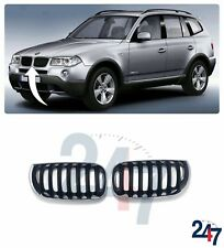 NEW BMW X3 SERIES E83 2003 - 2006 FRONT UPPER RADIATOR GRILL PAIR SET LEFT RIGHT