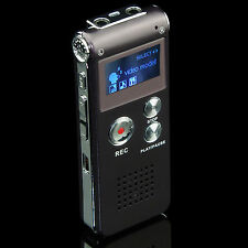 Digital Sound Voice Recorder 8GB Rechargeable Steel Dictaphone MP3 Record Player