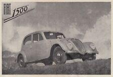 Z7044 Automobile FIAT 1500 - Pubblicità d'epoca - 1939 vintage advertising