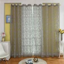 Living Room Sun Shade Printed Drape Morden Voile Bedroom Sheer Window Curtain CF