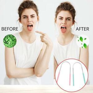 Tongue Scraper Steel Oral Tongue Cleaner Brush Tongue Oral NICE