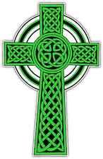 "Celtic High Cross Ireland Irish Car Bumper Window Sticker Decal 3.5""X6"""