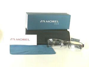 New Authentic OGA Morel France Eyeglasses Frame 79220 MM050, Black , 54-16-135
