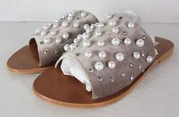 Steve Madden Womens Denise-P Embellished Slide Sandals Shoes, Taupe, US 7