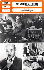 FICHE CINEMA : MONSIEUR VERDOUX - Chaplin,Correll,Roddan 1947