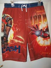 Iron Man 2 Red Swim Suit Trunks Shorts Boys Size 14 / 16 NWT  #27