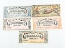 1915 Mexico Peso Note Lot 5 F-XF Mexican Revolution (PS#529g 532a 535 537b 702b)