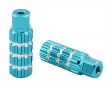 """Blue Alloy Pegs  701 BIKE FOOT PEG PEGS 3/8"""" 3/8 AXLE 24T OR 26T Blue 3"""" long"""