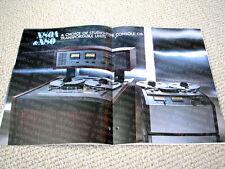 MAKE OFFER - Mitsubishi X-80/X-80A digital reel to reel deck / recorder brochure