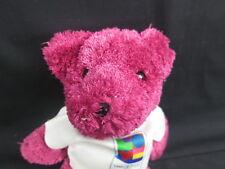 FUCHSIA PINK TEDDY BEAR LOVE 37 USA USPS SHIRT STAMP PLUSH STUFFED ANIMAL SOFT