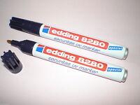 2x Edding 8280 securitas UV-Marker 1,5- 3 mm permanent farblos Spezialtusche NEU