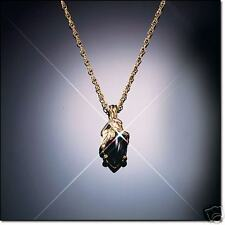 Black Hills Gold Marquise Onyx Necklace  10k Gold Chain