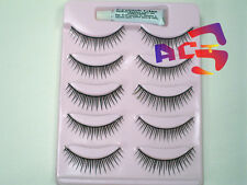 5 Pairs Natural Soft Curl False Eyelashes #42 with Glue