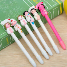 Useful Fimo Material Ballpoint Pen Kawaii Character Doctor Nurse Pen Sounenirs