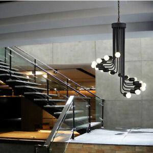 Black Chandelier Lighting Kitchen Pendant Light Modern Ceiling Lights Lobby Lamp