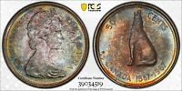 Toned Silver 1967 Canada 50 Cents Half Dollar | PCGS MS65