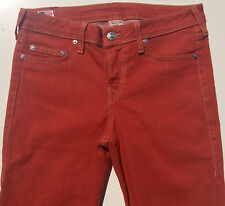 EUC RRP $399 Womens Stunning True Religion Brand 'HALLE' Tomato Stretch Jeans 31