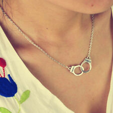 New Fashion Design Handcuffs Choker Pendant Necklace Chain Women Lovers Gift CA