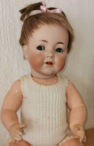 Seltene Porzellankopfpuppe Kämmer Reinhardt 128 | alte Puppe K+R Charakterbaby