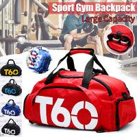 Women Men Sports Duffle Shoulder Bag Gym Luggage Backpack Travel Handbag Large