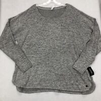 Ideology Women's Mushy Knit Heathered Long Sleeve Top Color Grey Plus Size 2X
