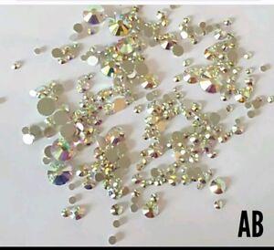 Ab crystals nail art glitter