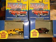 JOHNNY LIGHTNING THUNDERJETS PULL-BACK RACE CARS PLYMOUTH HEMI CUDA SET OF 2