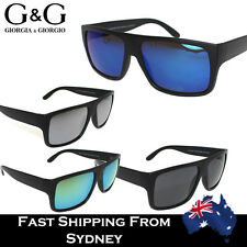 G&G Mens Ladies Flat Top Sports Sunglasses Polarized Cycling Hiking Mirrored