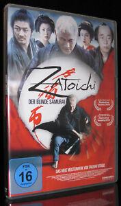 DVD ZATOICHI - DER BLINDE SAMURAI - TAKESHI KITANO (BATTLE ROYALE + HANA-BI) NEU
