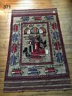 •371• Large Beautifully Handmade Afghan War Rug  188x119 cm