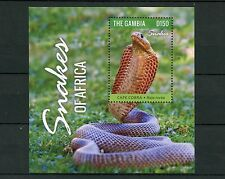 Gambia 2015 MNH Snakes of Africa 1v S/S II Reptiles Cape Cobra
