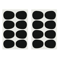 16pcs Alto/tenor Sax Clarinet Mouthpiece Patches Pads Cushions, 0.8mm Black, FP