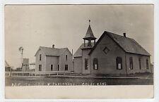 M.E. CHURCH & PARSONAGE, COLBY: Kansas USA postcard (C11952)
