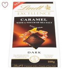 Lindt Excellence Foncé Chocolat Barre 100g avec Caramel & Mer Sel