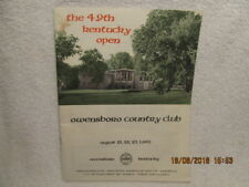 1968 Golf Program 49th Kentucky Open at Owensboro Country Club With Photos & Ads