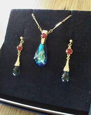 Howl's Moving Castle Ghibli Swarovski Necklace & Stud earrings Museum Exclusive