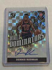 2019-20 Donruss Checkerboard prizm  Signature Dennis Rodman pistons auto 18/99
