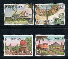 Philippines 1094-1097,MNH.Michel 963-966. 1971.Mayon Volcano,Big Jar,Ship,Train.