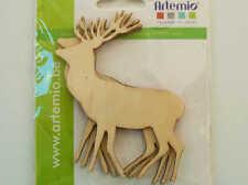 3 Supports Cerf Animal Forêt en bois À Décorer 9 5cm Artemio DIY Déco Loisirs