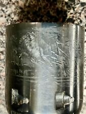 Pietta 1851 colt unfluted .36 cylinder with engraved scene , all chambers clean