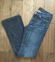 EUC Seven 7 For All Mankind Dark Wash Bootcut Jeans Women's Size 27