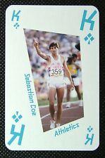 1 x playing card London 2012 Olympic Legends Sebastian Coe Athletics King Clubs