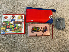 Nintendo 3DS System/Console - USA Pink + Charger + SD Card + Mario Items