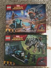 Lot X 2 LEGO MARVEL SUPER HEROES THOR'S WEAPON QUEST 76102 RHINO FACE OFF 76099