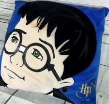 Vintage Harry Potter Pillow HP Young Face Sorcerer Accent Throw Pillow Blue RARE
