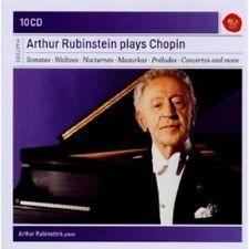 ARTUR RUBINSTEIN - RUBINSTEIN PLAYS CHOPIN-SONY CLASSICAL MASTERS 10 CD NEU