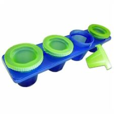 Barbuzzo by Urban Trend 4pc Ice Shot Glasses - Tray / Mold