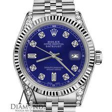 Women's Rolex 26mm Datejust Blue 8+2 Diamond Accent Dial Watch