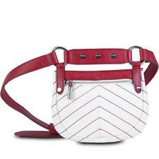 NWT Bodhi Santa Monica White & Chinese Red Chevron Crossbody Handbag Purse Bag