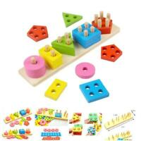 Wooden Educational Preschool Toddler Toys for 1 2 3 4 5 Year Old